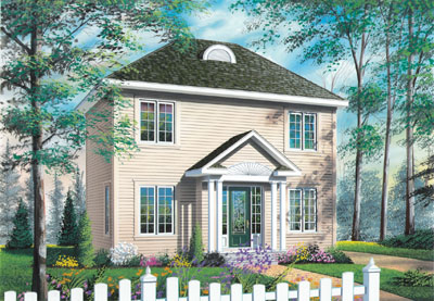 Early-american Style Home Design Plan: 5-814