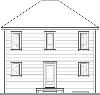 Rear Elevation Plan: 5-814