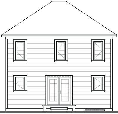 Rear Elevation Plan: 5-815