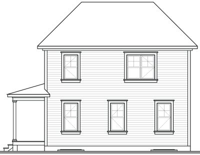 Rear Elevation Plan: 5-816
