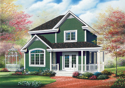 Country Style Floor Plans Plan: 5-817