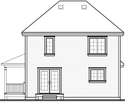 Rear Elevation Plan: 5-817