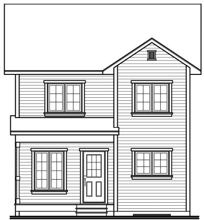 Rear Elevation Plan: 5-818