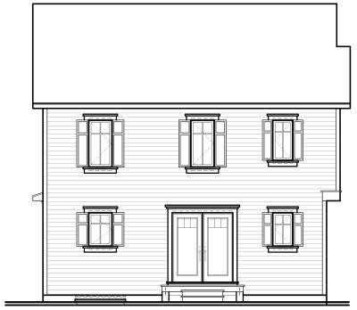 Rear Elevation Plan: 5-820