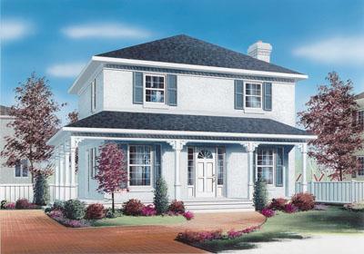 European Style House Plans Plan: 5-821