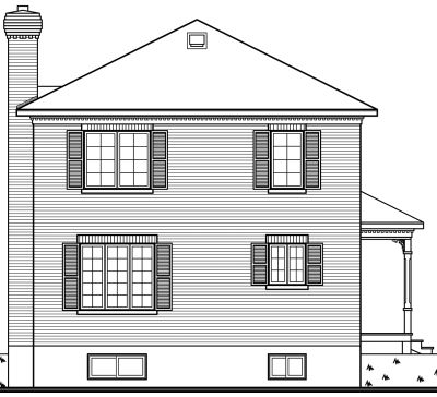 Rear Elevation Plan: 5-821