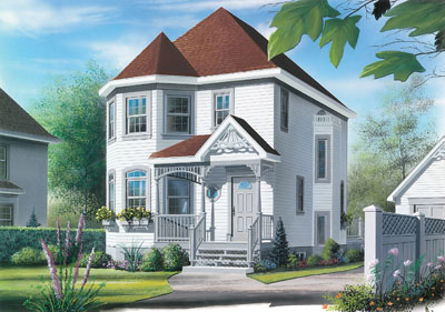 European Style House Plans Plan: 5-822