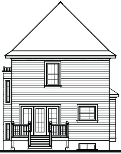 Rear Elevation Plan: 5-822