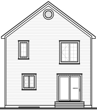 Rear Elevation Plan: 5-824