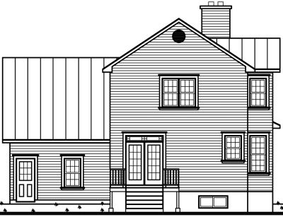 Rear Elevation Plan: 5-826