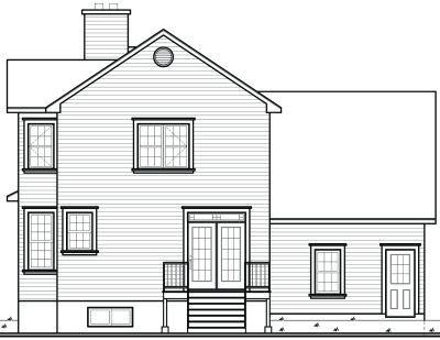 Rear Elevation Plan: 5-827