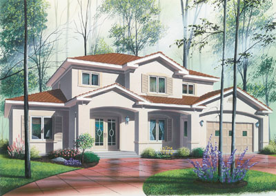 Traditional Style Home Design Plan: 5-830