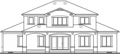 Rear Elevation Plan: 5-830