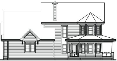 Rear Elevation Plan: 5-833