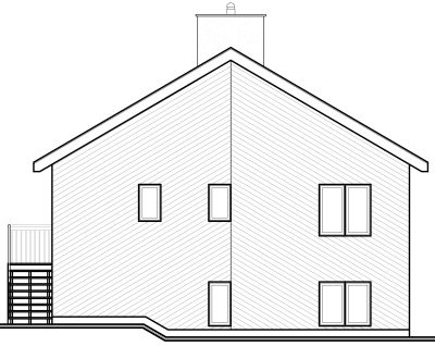 Rear Elevation Plan: 5-835