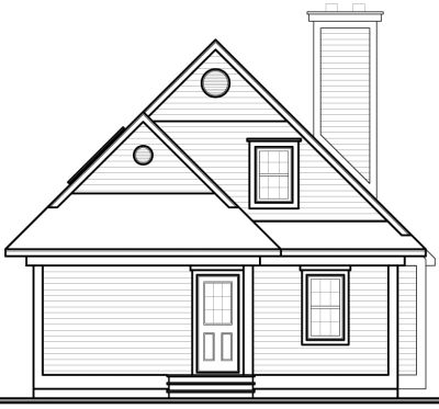 Rear Elevation Plan: 5-836