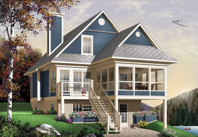 Cottage Style House Plans Plan: 5-837