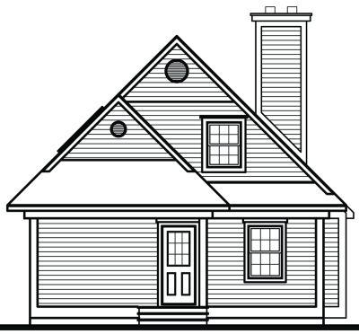 Rear Elevation Plan: 5-837