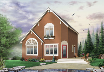 European Style Home Design Plan: 5-838
