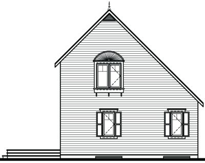 Rear Elevation Plan: 5-838