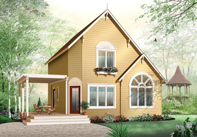 European Style House Plans Plan: 5-839
