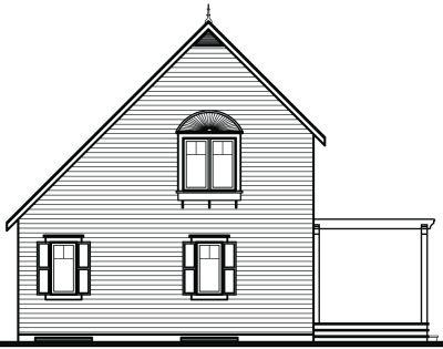 Rear Elevation Plan: 5-839