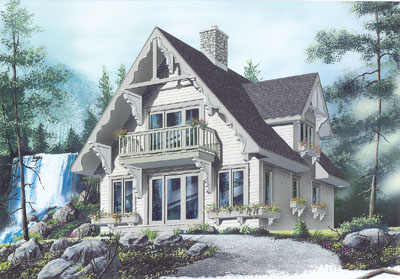Cottage Style Floor Plans Plan: 5-841