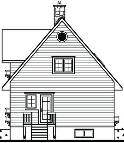 Rear Elevation Plan: 5-841