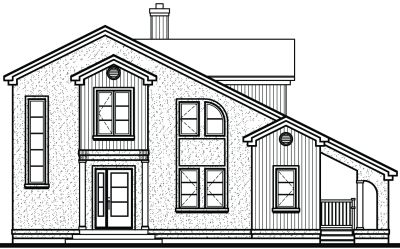 Rear Elevation Plan: 5-842