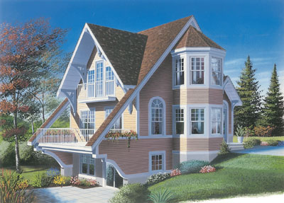 Cottage Style Home Design Plan: 5-843