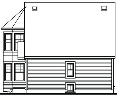 Rear Elevation Plan: 5-843