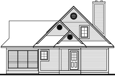 Rear Elevation Plan: 5-844