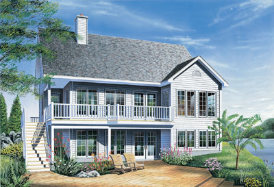 Country Style Floor Plans Plan: 5-845