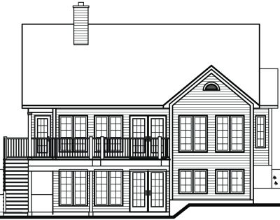 Rear Elevation Plan: 5-845