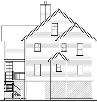 Rear Elevation Plan: 5-846