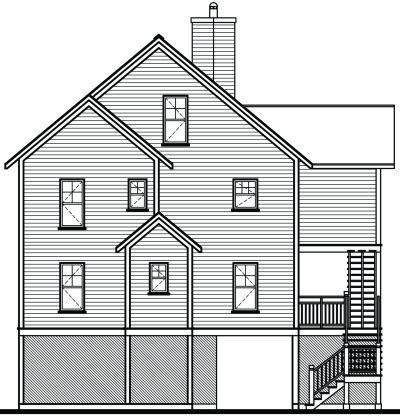 Rear Elevation Plan: 5-847