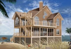 Coastal Style Home Design Plan: 5-847