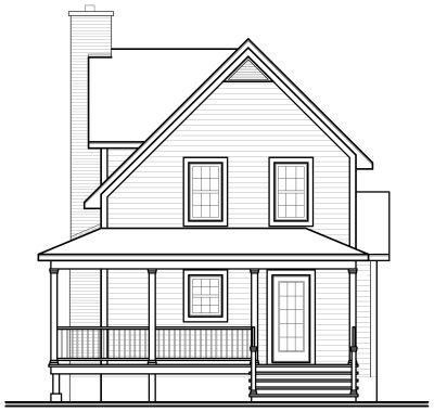 Rear Elevation Plan: 5-848