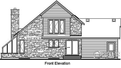 Rear Elevation Plan: 5-849