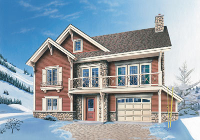 Craftsman Style Home Design 5-850