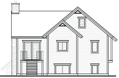 Rear Elevation Plan: 5-850