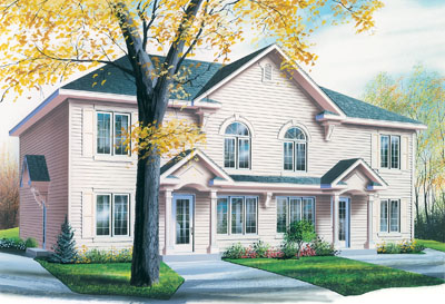Traditional Style Home Design Plan: 5-851