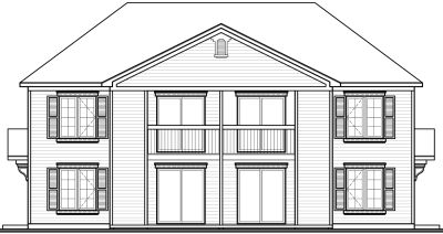 Rear Elevation Plan: 5-851