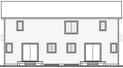Rear Elevations Plan:5-852