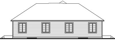 Rear Elevation Plan: 5-853