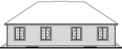 Rear Elevation Plan: 5-854