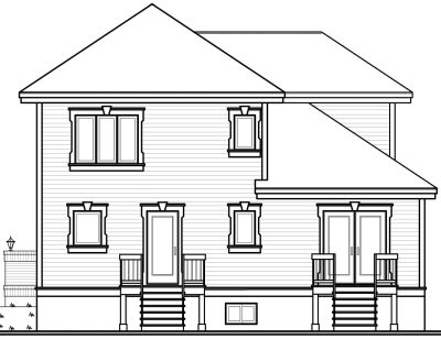 Rear Elevation Plan: 5-855