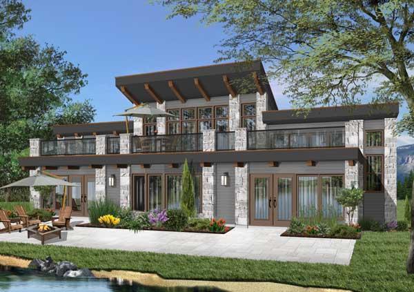 Contemporary Style Home Design Plan: 5-856