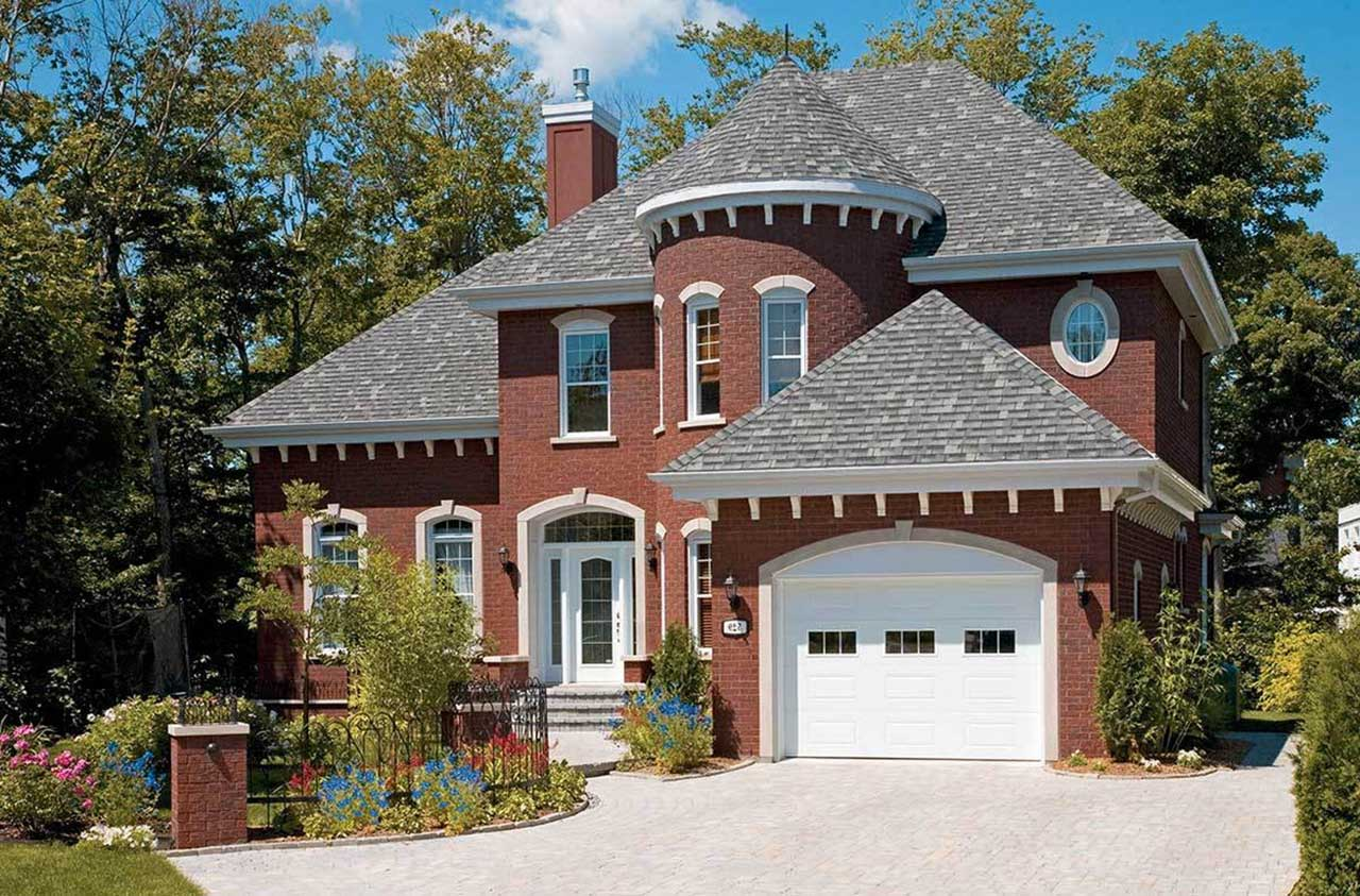 European Style Home Design Plan: 5-857