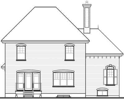 Rear Elevation Plan: 5-857